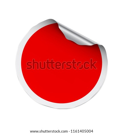 Curled sticker isolated on white background. Vector illustration. It can be use for price, promo, adv and etc. EPS10. #1161405004