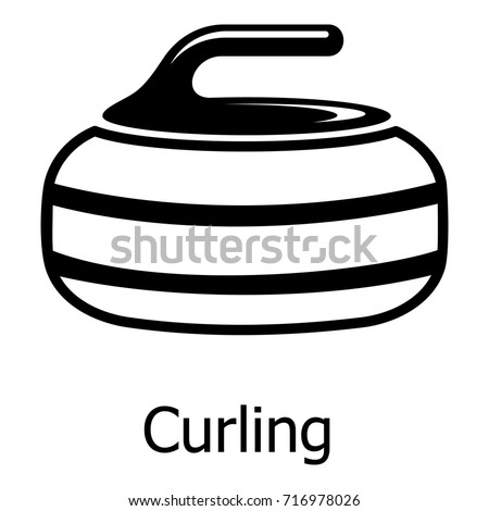 Curling icon. Simple illustration of curling vector icon for web