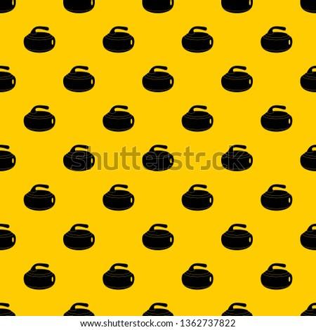 curling stone pattern seamless