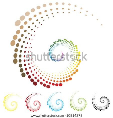 curly symbol background vector