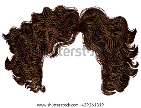 curly women hairs brown colors