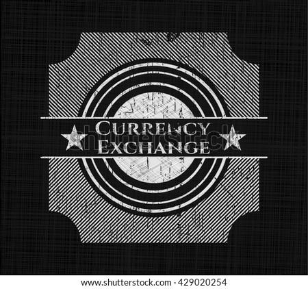 Currency Exchange chalk emblem