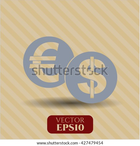 currency exchange icon vector symbol flat eps jpg app