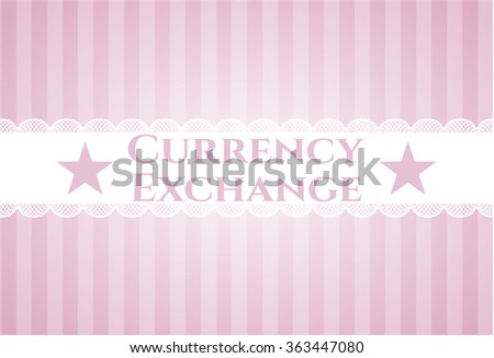 Currency Exchange retro style card or poster