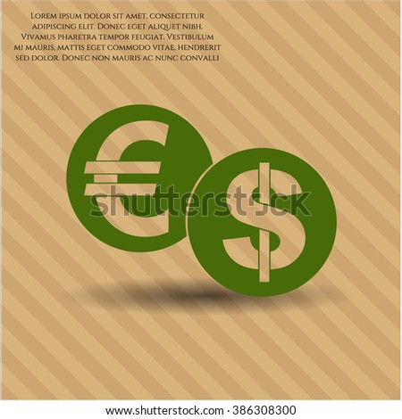 Currency Exchange vector icon