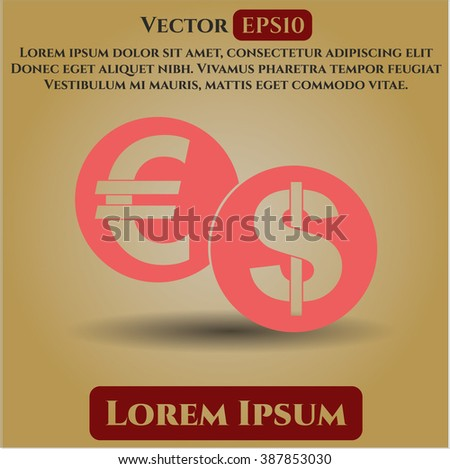 Currency Exchange vector icon or symbol