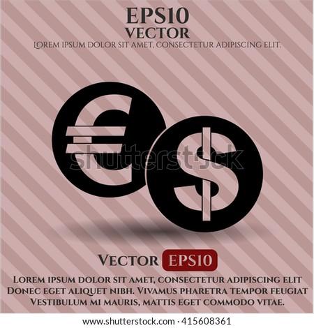Currency Exchange vector symbol