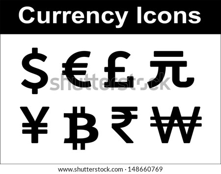 stock-vector-currency-icons-set-black-over-white-background-vector-flat-design