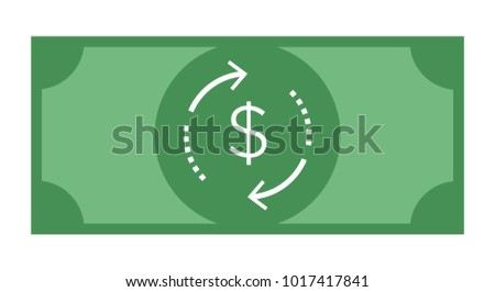 Currency Note Showing Dollar Cash Flow / Return on Investment / Cashback
