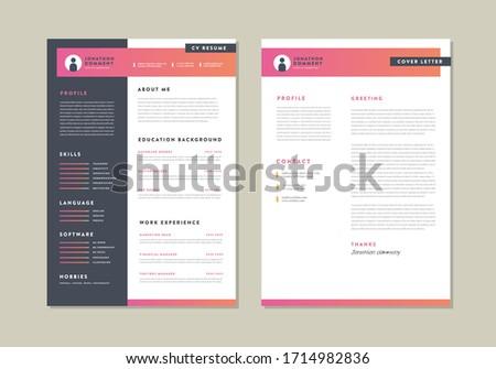 Curriculum vitaeCV Resume Template Design Stok fotoğraf ©
