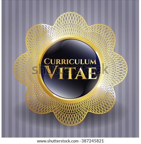 Curriculum Vitae golden badge