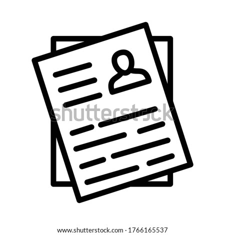 Curriculum vitae Line Style vector icon which can be easily modified or edited  Stok fotoğraf ©