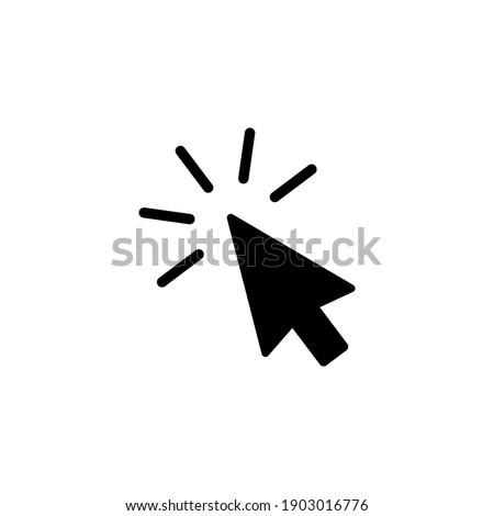 Cursor click icon. Mouse click icon vector. Pointer icon symbol illustration