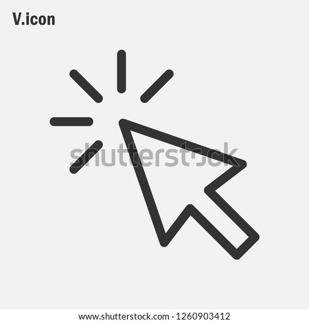 Cursor click icon vector