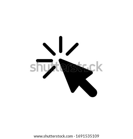 Cursor icon. Click icon vector illustration on white background