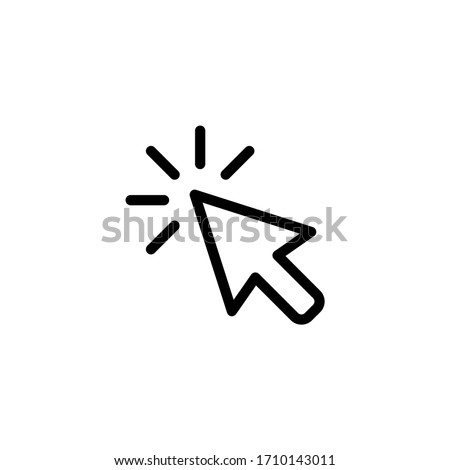 Cursor icon. Click icon vector illustration on white background Photo stock ©