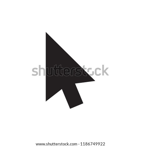 Cursor icon in trendy flat style isolated on white background. Cursor icon page symbol for your web site design cursor icon logo, app, UI. Cursor icon Vector illustration, EPS10.