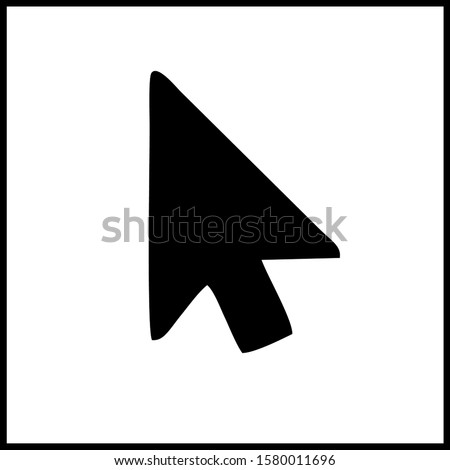 Cursor icon in trendy flat style isolated on white background. Cursor icon page symbol for your web site design cursor icon logo  app  UI. Cursor icon Vector illustration. Click mouse arrow symbol