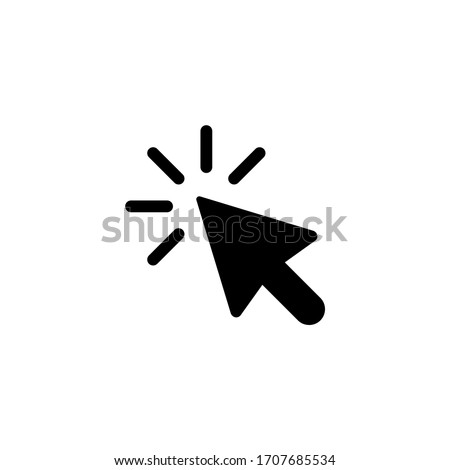 Cursor icon vector illustration. Pointer icon