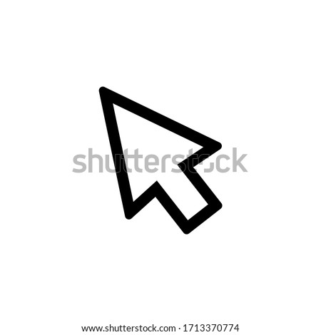 Cursor icon vector. Pointer icon symbol