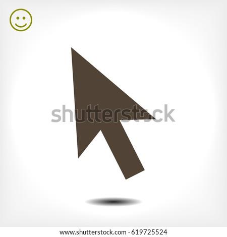 cursors icon, stock vector illustration flat design style