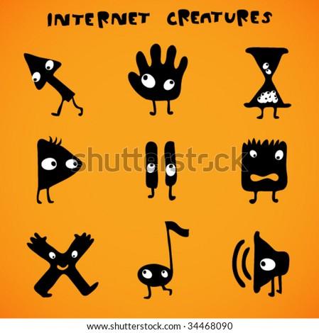 cursors - internet creatures