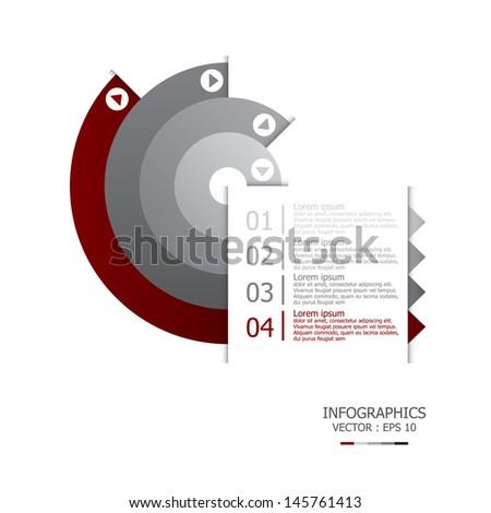 Curve Design Template - stock vector
