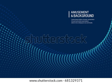 Curve particle background