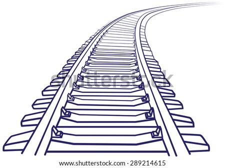 curved endless train track