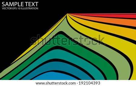 Curved modern vector background rainbow illustration - Color vector   twisted  background illustration