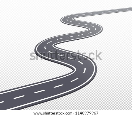 curved road or highway with