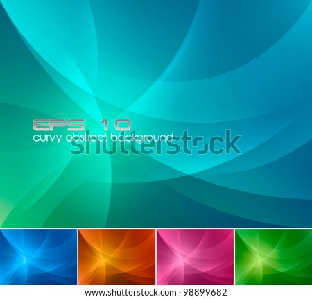 curvy abstract background a