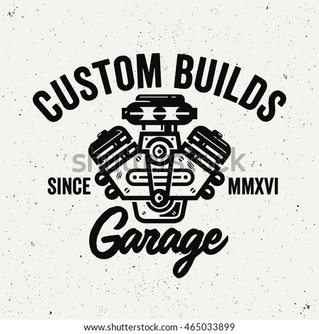 custom builds garage logo....