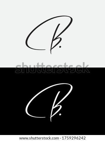 "Custom calligraphic initial ""B."", perfect for using as a personal word mark, monogram, logo etc."