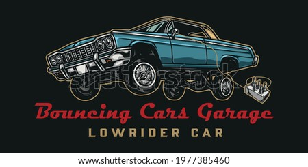 custom car colorful vintage