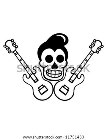 custom culture skull outline