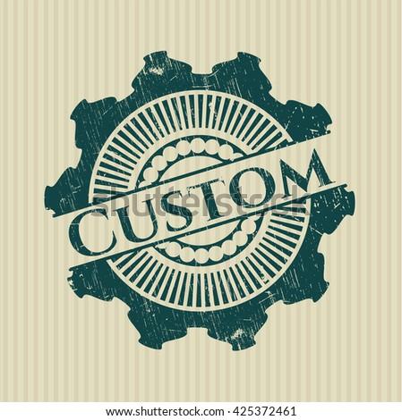 Custom grunge stamp
