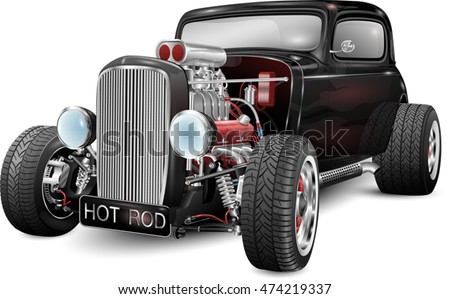 custom hot rod fully editable