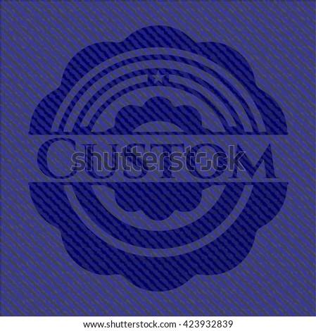 Custom jean background