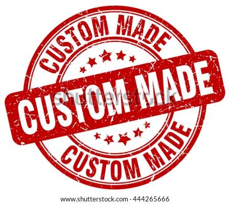 custom made red grunge round
