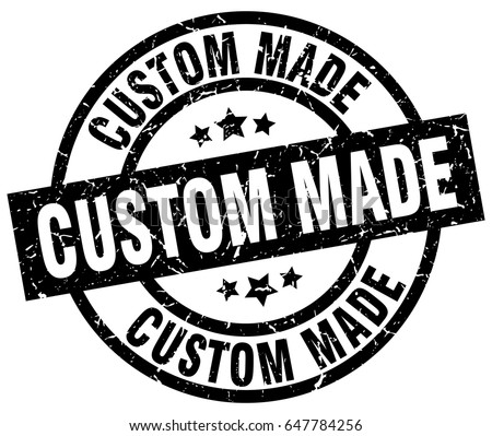 custom made round grunge black stamp