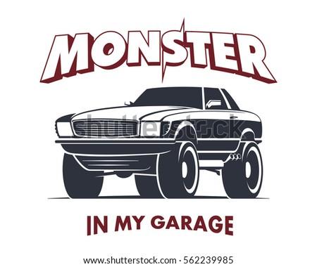 custom monster truck coupe