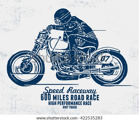 custom motorcycle illustration