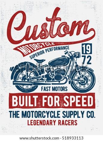 custom motorcycle typography  t