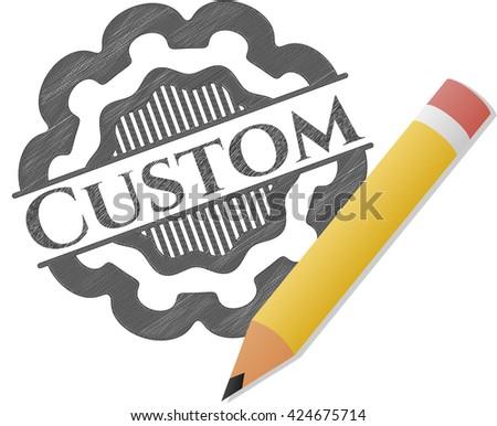 Custom pencil emblem