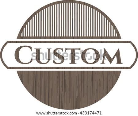 Custom realistic wooden emblem