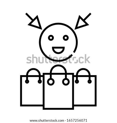 Customer abilities line icon, concept sign, outline vector illustration, linear symbol.