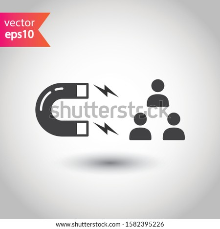 Customer attracting vector icon. Customer attracting flat sign design. EPS 10 pictogram symbol