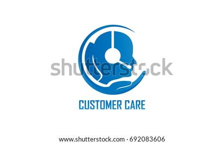 Customer Care Service Logo Template