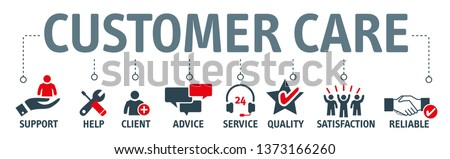 Customer Care, Support Service and Telemarketing vector concept. The icons ans keywords Support, help, advice service, quality, satisfaction and reliable.